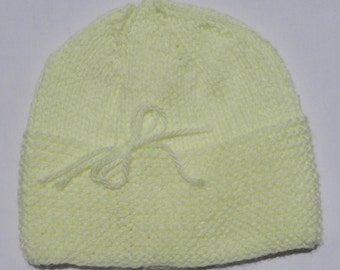 Buttercup Hand Knit Baby Hat