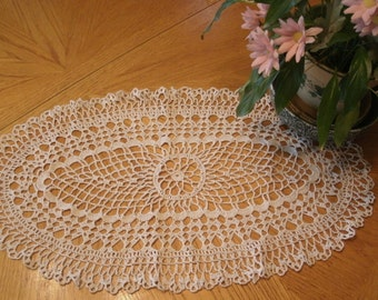 "Hand Crochet Doily - ""Palmetto"""