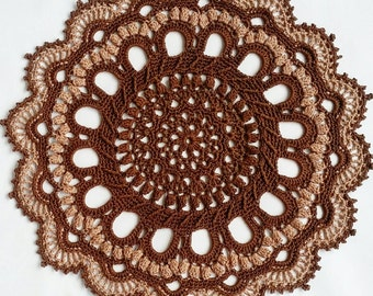 Doily 32cm cotton crocheted