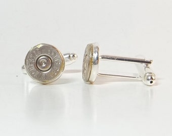 Bullet Jewelry- 38 Special Bullet Nickel Cuff Links