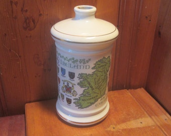 1969 Stitzel Weller Distillery Ireland Emerald Isle Old Fitzgerald Decanter Irish Coats of Arms