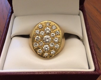 Men's Custom Gold & Diamond Ring