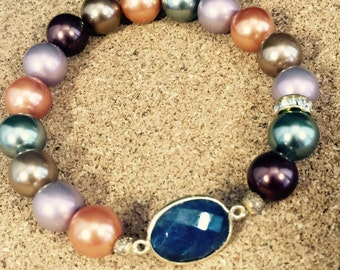 Pearl and Sapphire Bracelet
