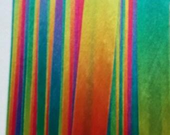 Bias Binding Tape Rainbow Coloured 25Yards 0.30pence/metre