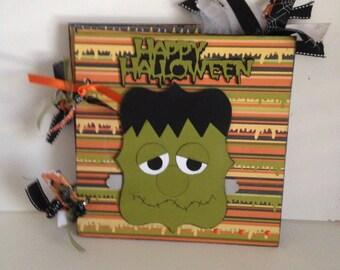 Halloween 8 x 8 Chipboard Premade Photo Album
