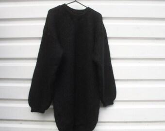 Black vintage wool jumper
