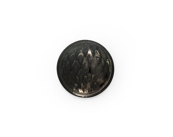 Ceramic Rusty Black Gold Cabochon 1 piece