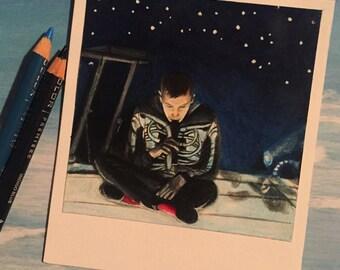 Stage B - Print of Polaroid Drawing