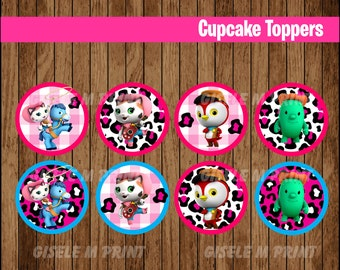 Sheriff Callie's Wild West cupcakes toppers, Printable Sheriff Callie toppers, Sheriff Callie party toppers instant download