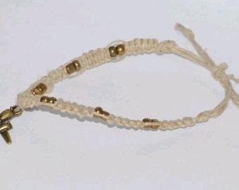 Bronze Airplane Twine Bracelet