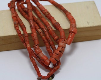 SALE!!! Antique coral beads necklace 62 grams