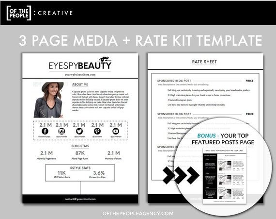 3 page media kit template press kit for bloggers for Digital press kit template free