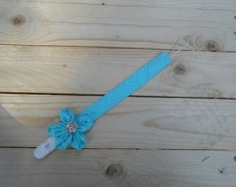 BABY Pacifier clip Dummy soother holder clip Fabric pacifier clip Pacifier holder clip SHOWER GIFT