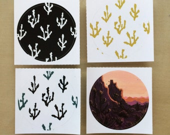 Joshua Tree Desert Stickers- set of 4