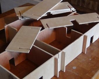 Wooden interlocking block set