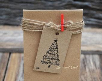 Christmas Tags, Christmas Printable Gift Tag, Christmas Tree Typography Tags,  Instant Download, Favor Tag, Printable PDF