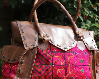 Women's handbag, women's purse, leather bag, colourful bag, vintage bag, gift for wife, gift for mother, gift for her, handmade bag