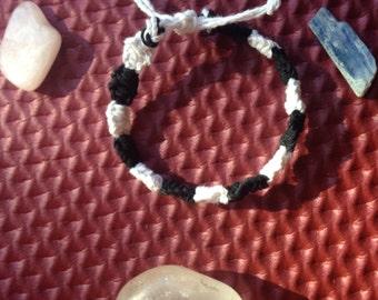 black & white hemp bracelet