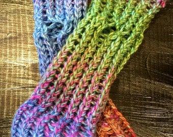 Rainbow Fingerless Gloves/Arm Warmers