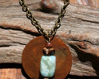 Handcrafted Copper Turquoise Necklace