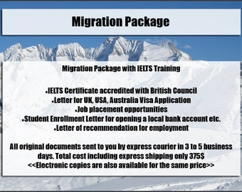 Migration Package for foreign students.