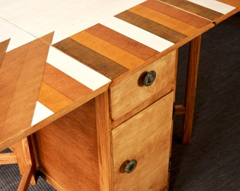 Upcycled Drop Leaf Table