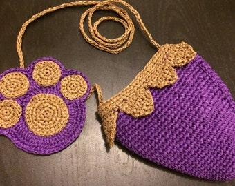Handmade Kids handbag with coaster set