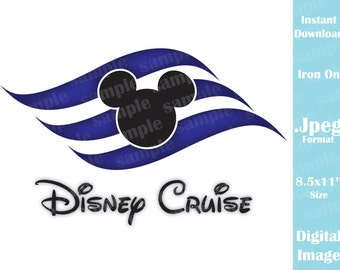 INSTANT DOWNLOAD DIY Disney Cruise Logo Inspired Mickey Ears Printable Iron On Family Vacation Disney Trip