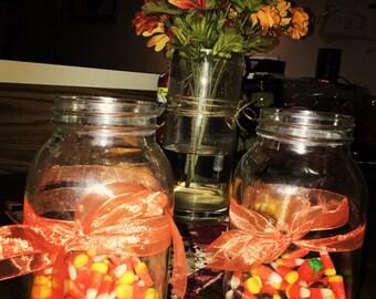 Fall candy jars.