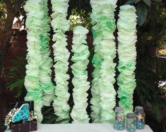 Ariel Seaweed Kelp Party Decoration Backdrop ~set of 7~ Under The Sea ~ Mermaid coffee filters
