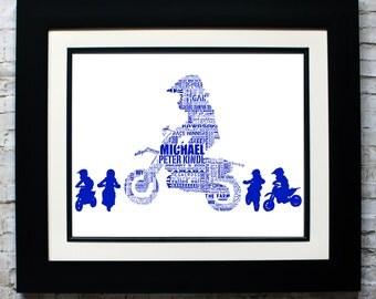 Custom Motocross Biker Silhouette Word Art, Custom Silhouette Name Sign with Word Art, Custom Silhouette Gift, Motocross Gift, MX Biker Gift