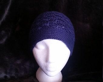 Crochet shell beanie
