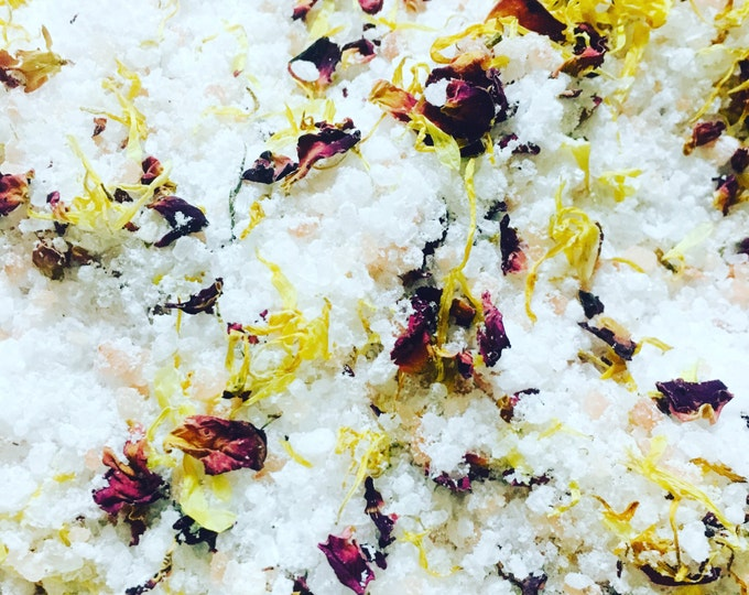 8oz jar autumn rain bath salt bath tea bath herbs bath soak