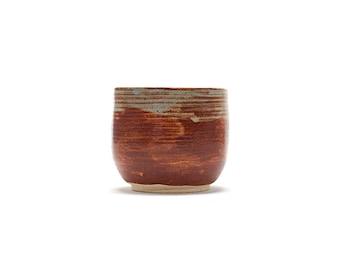 Hand Thrown Bowl, Blue/Brown Shino Glaze