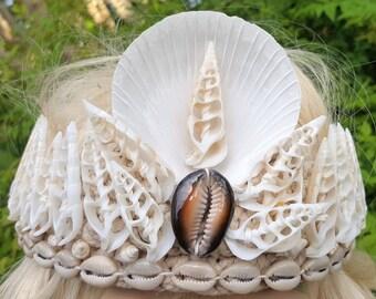 Mermaid Crown Tiara Clam Shell Natural