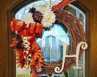 Happy Fall vine wreath