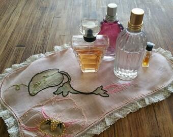 Hand embroidered linen vintage
