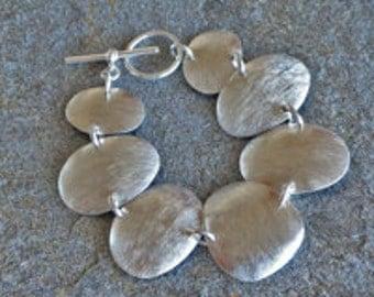 BEACH PEBBLE Sterling Silver Bracelet, silver bracelet, bracelet, silver, sterling silver