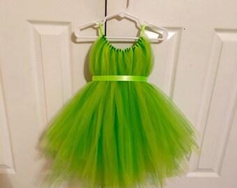 Tinker Bell Tulle Costume - Fairy Dress - Green Tulle Dress