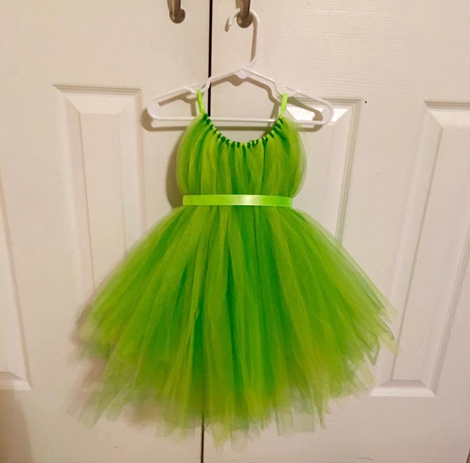 Tinker bell tulle costume fairy dress green