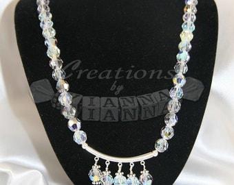 Swarovski necklace- Wedding jewelry-Hand made necklace