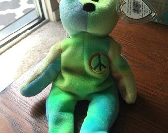 Peace Bear Beanie Baby