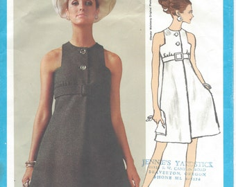 "1960s Vintage VOGUE Sewing Pattern B34"" DRESS (R573) By 'Chester Weinberg' Vogue 1927"
