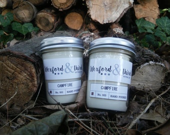 Campfire Wood-Wick Natural Soy Candle