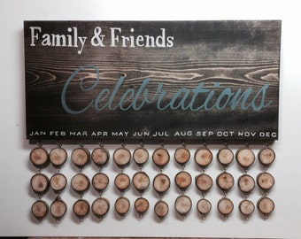 Family and Friends Birthday, Anniversary & Special Occasion Reminder Display Board