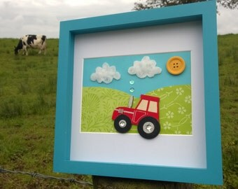Personalised 3D Vibrant tractor scene