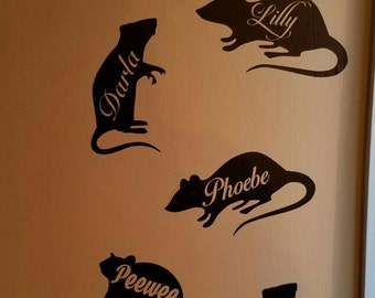 Rat Vinyl Decal With Name
