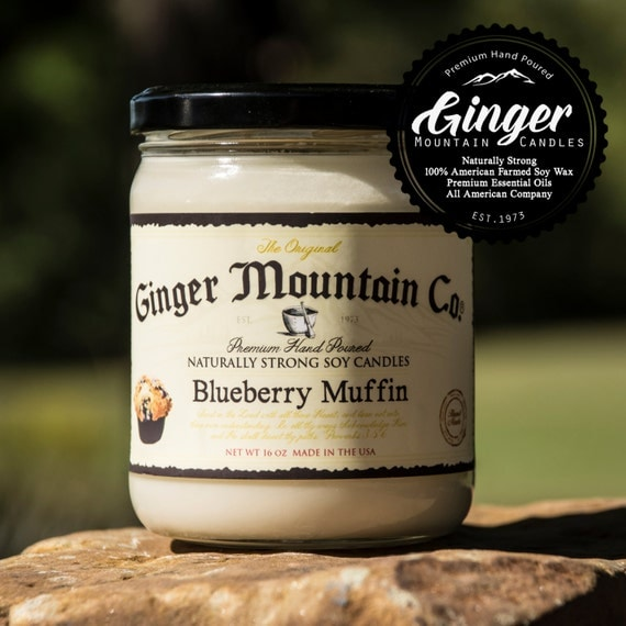 """Blueberry Muffin, """"Free Shipping"""" Scented Candle 16 Ounce Large  Strong Highly Scented Double Wicked, Soy, Super Strong, Best Scented candle"""