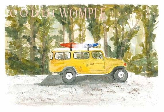 Land Cruiser Art Print