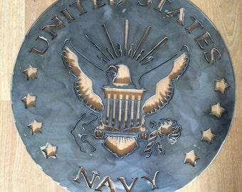 US Navy Metal Art Sign